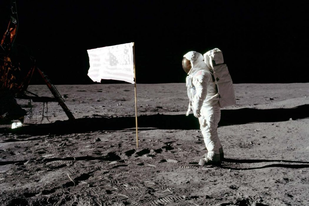 The flags on the moon are bleached