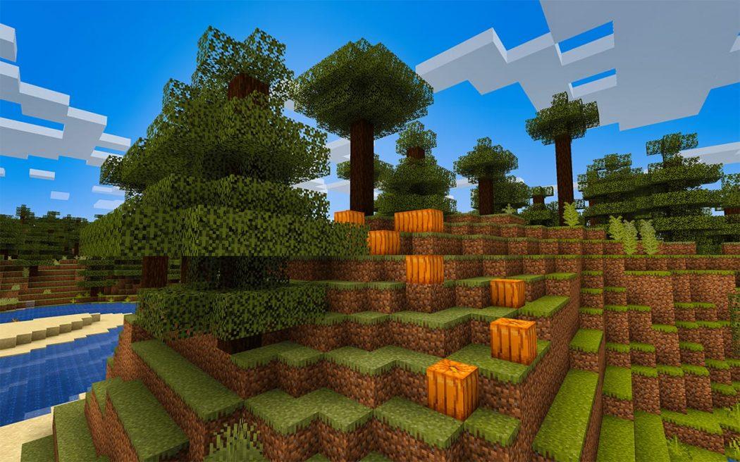 Minecraft Pumpkins on a Hill