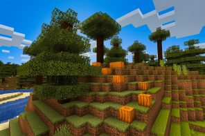 Minecraft Pumpkins on a Hill